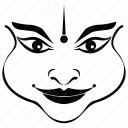 Outline Kathakali Face icon
